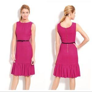 Kate Spade New York Siren ruffle hem sheath dress.